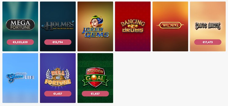 Wishmaker Casino jackpot games