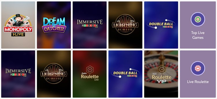 Wishmaker Casino live games