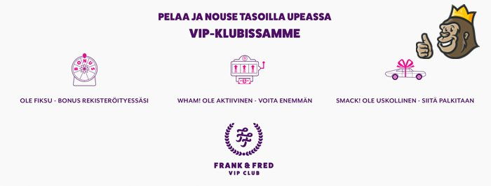 Frank & Fred casinon Vip-klubi