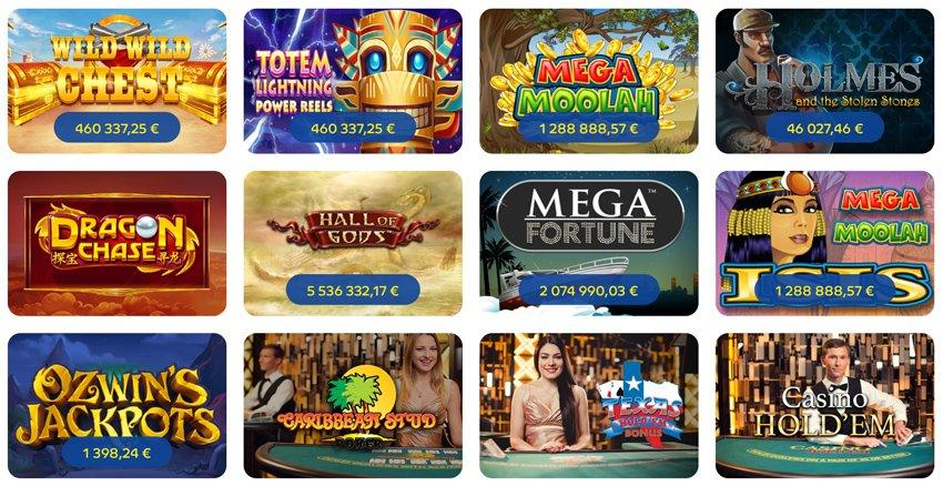 Jackpotpelejä Pelaa Casinolla