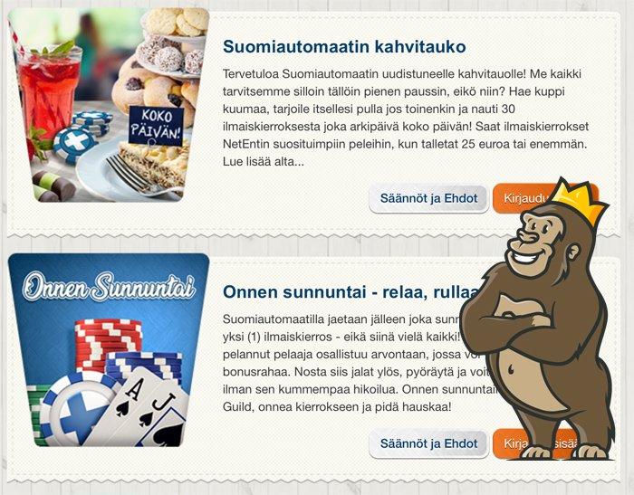 Suomiautomaatti Casinon kampanjoita