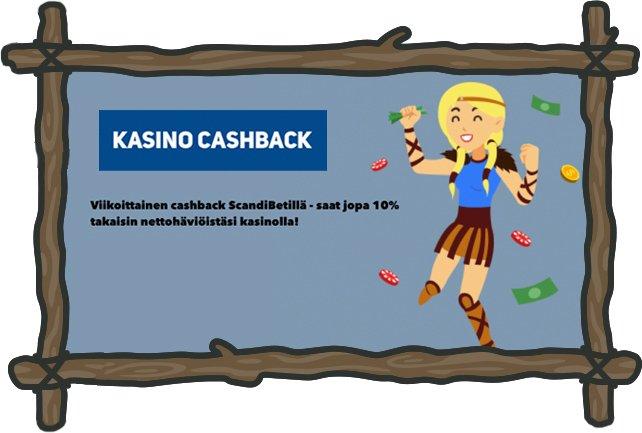 Kampanjat ja cashback Scandibet Casinolla