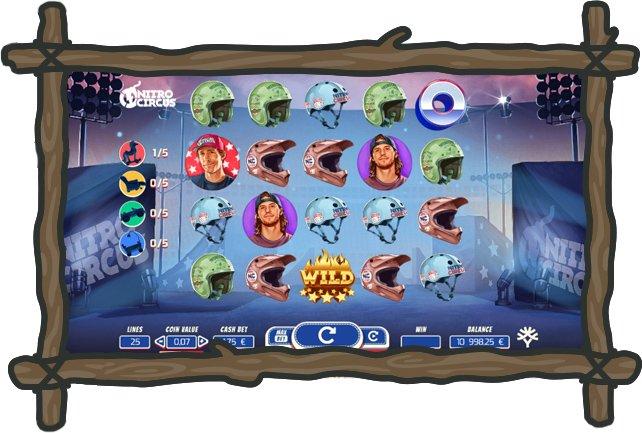 Nopeampi -kasinon kolikkopeli Nitro Circus