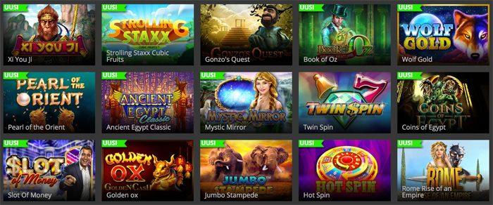 Kultakaivos Casinon pelivalikoimaa ja uutuuksia