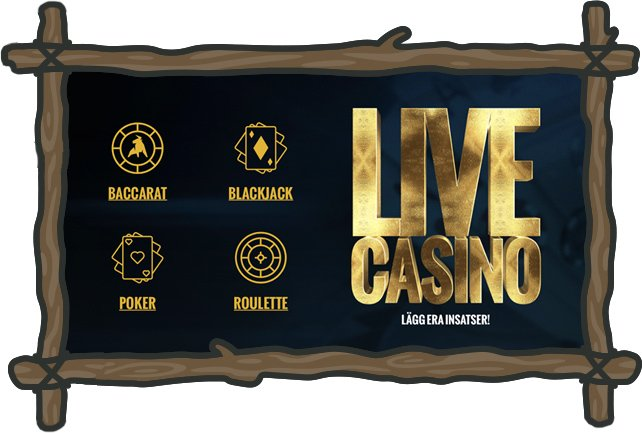 Live casinospel: Blackjack, Roulette, Baccarat och Poker