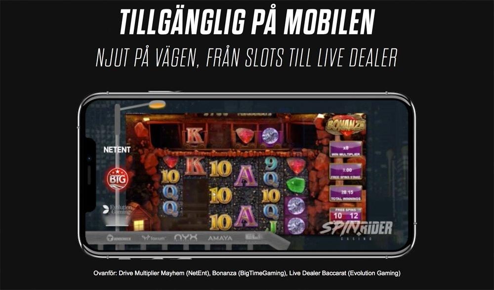 Spin Rider mobilspel