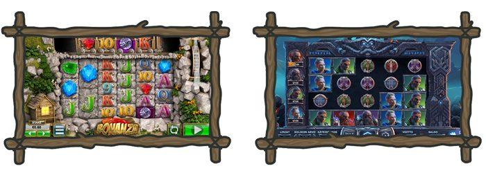 Kasinon kolikkopelit Bonanza ja Vikings