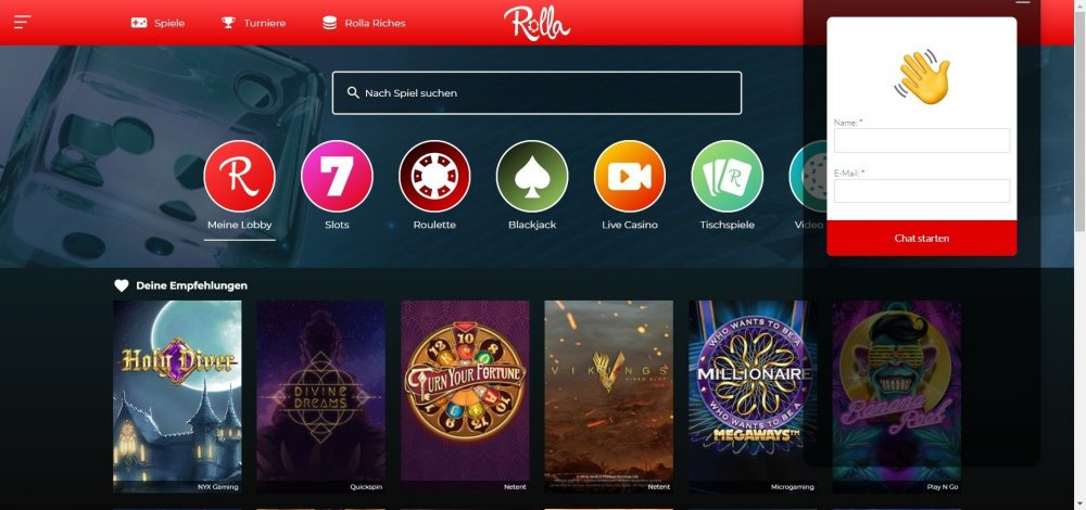 rolla casino live chat