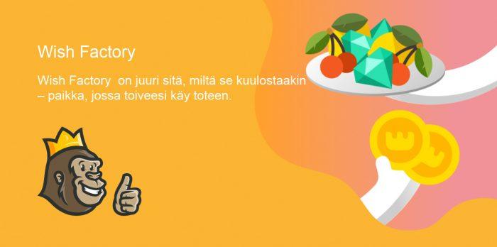 Wish maker ja wish factory-kampanja
