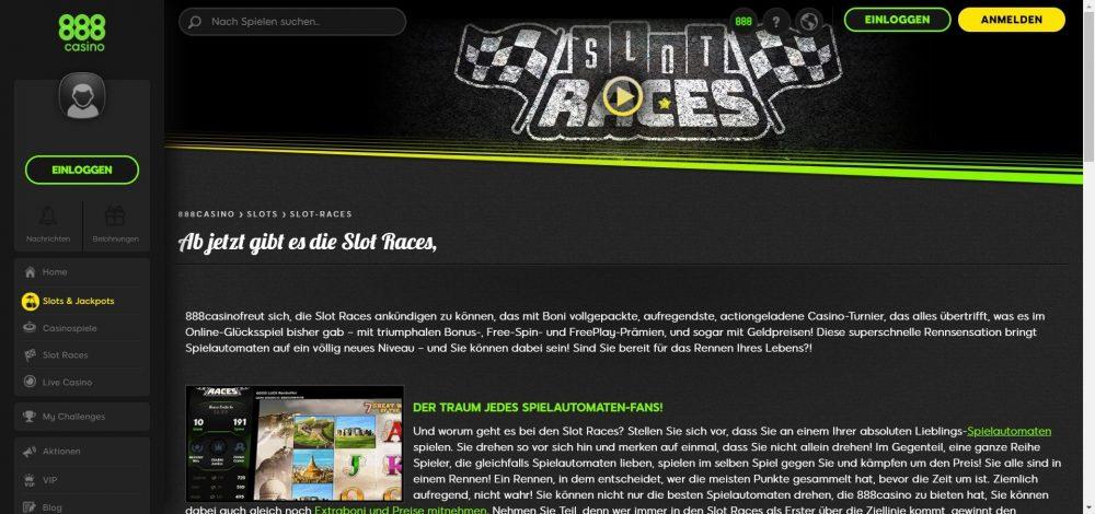 888 casino erfahrungen slot races