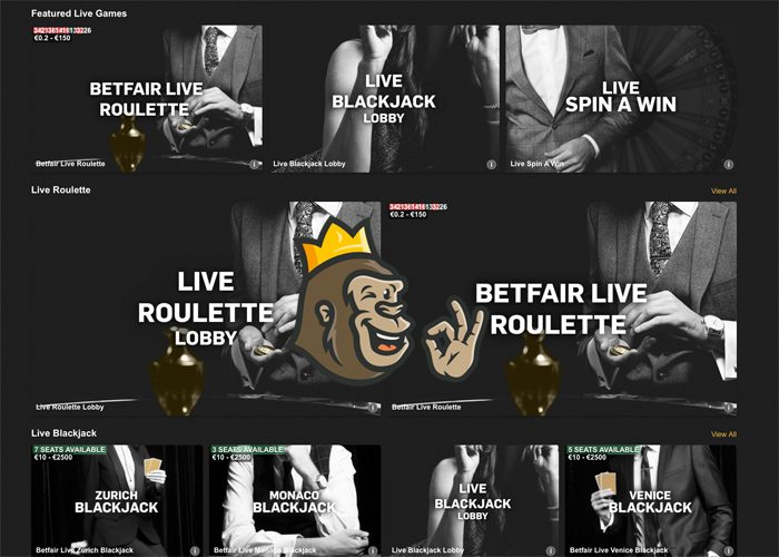 Betfair live-casino