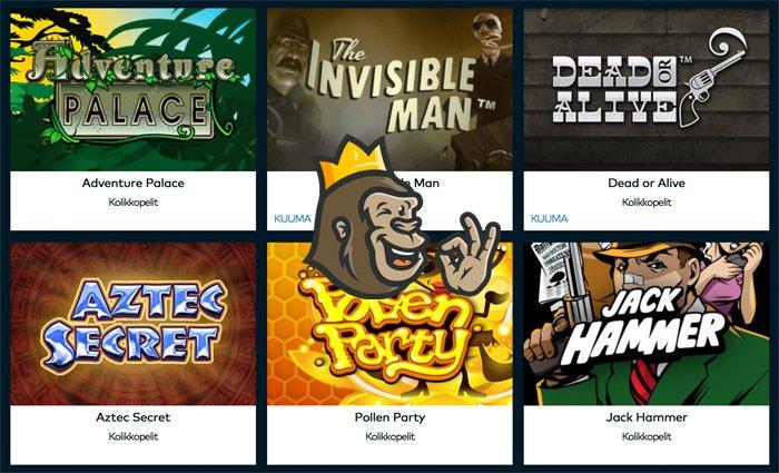 Fun Casinon pelivalikoimaa ja kolikkopelejä