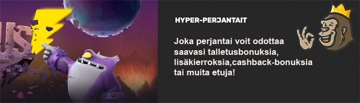 Hyper Casinon Hyper perjantai-kampanja