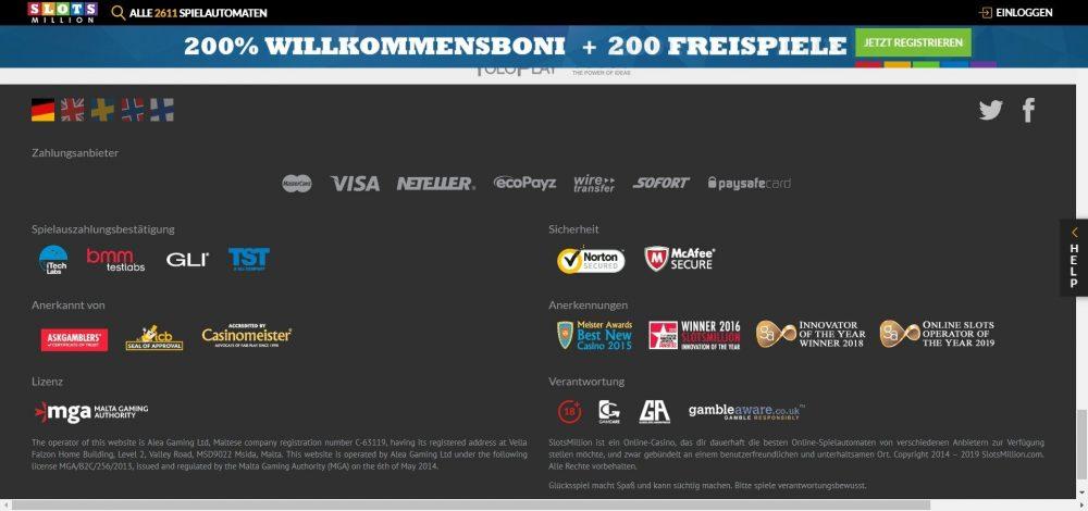slotsmillion casino spiele lizenzen