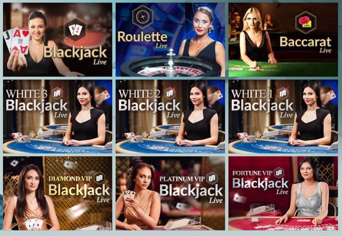 Wixstars casinon livepelivalikoimaa
