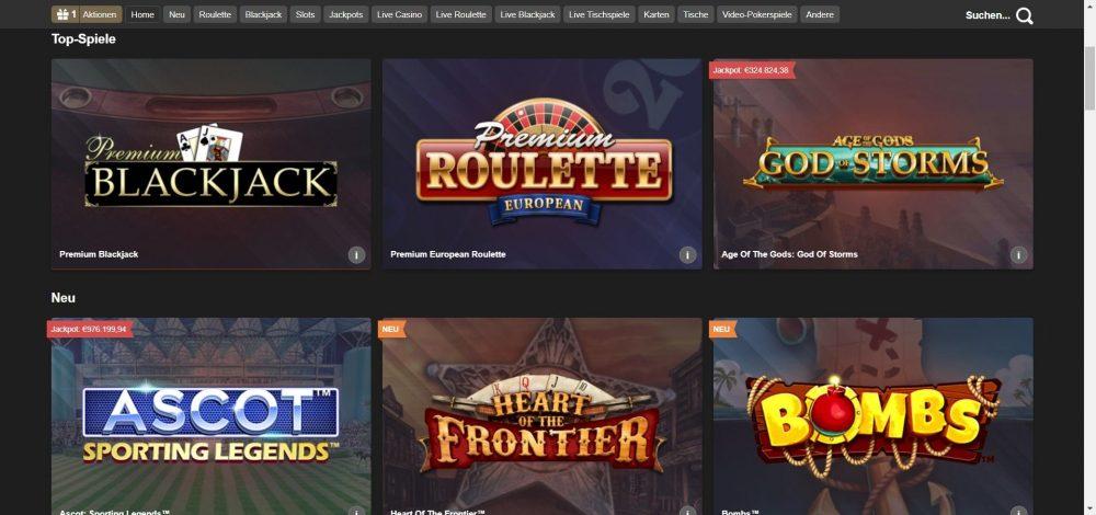 betfair casino spieleangebot