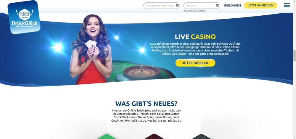drückglück casino live casino