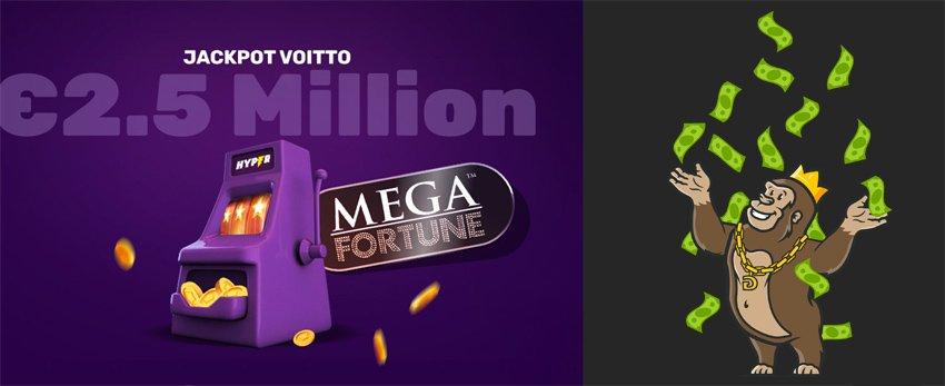 Hyper casinolla miljoonavoitto Mega Fortunesta