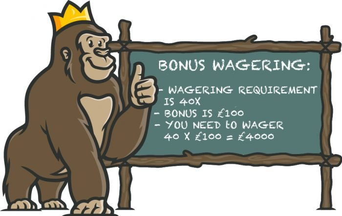 Casino Bonus wagering requirement