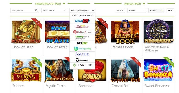 Pelivalmistajia ja kasinopelejä