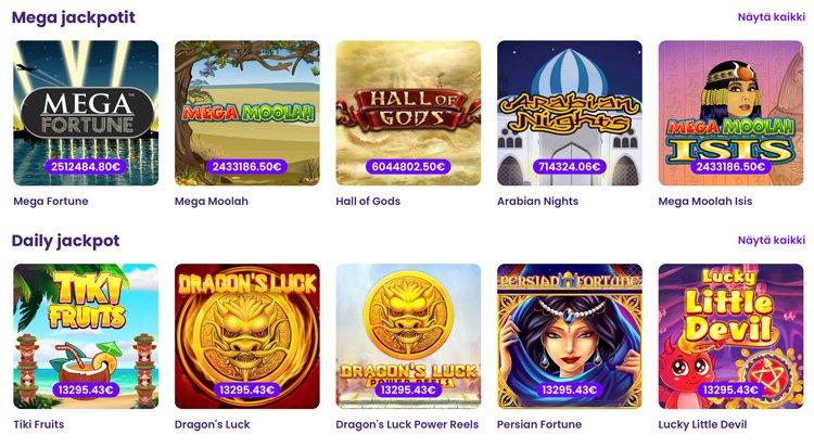 Wildz casinon jackpot pelit