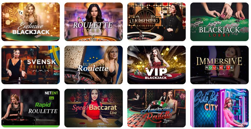 Beispiele für Live Casino Spiele