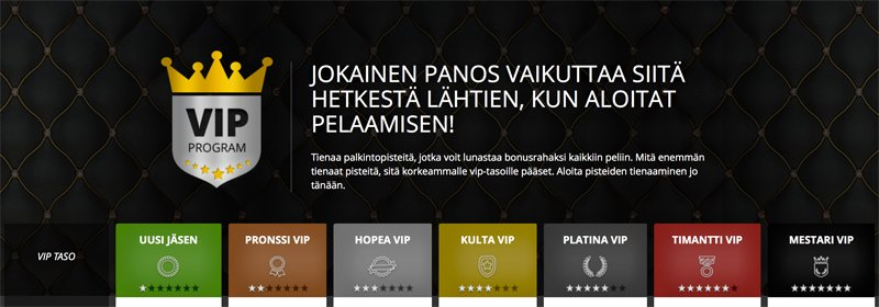 VIP-ohjelma pelaajille