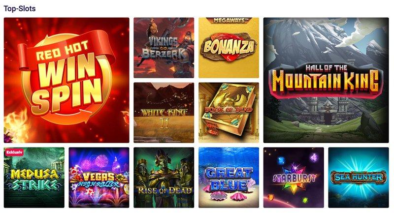 Verschiedene Casino Spiele und Top Slots