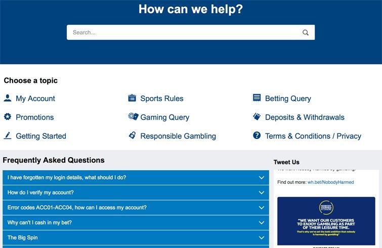 Asiakaspalvelun Apua-osio, FAQ-osio ja Twitter