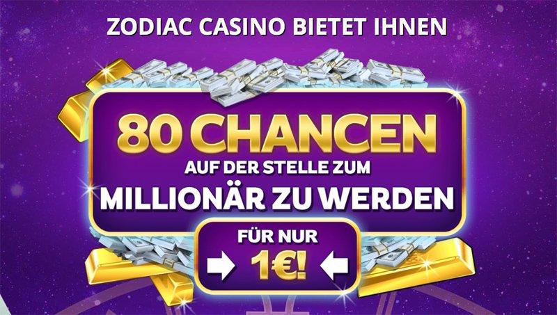 Casino bonus im Zodiac Casino