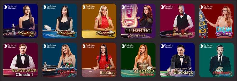Kaikki livepelit 10Bet Casinolla