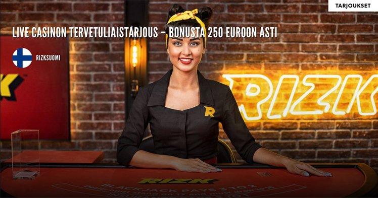 Live Casinon tervetuloetu