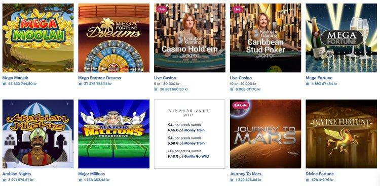 Mega Moolah och andra jackpotspel