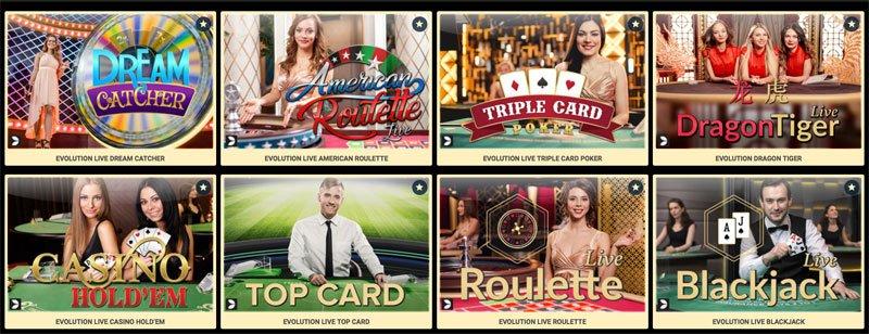 ArgoCasino Live Casino