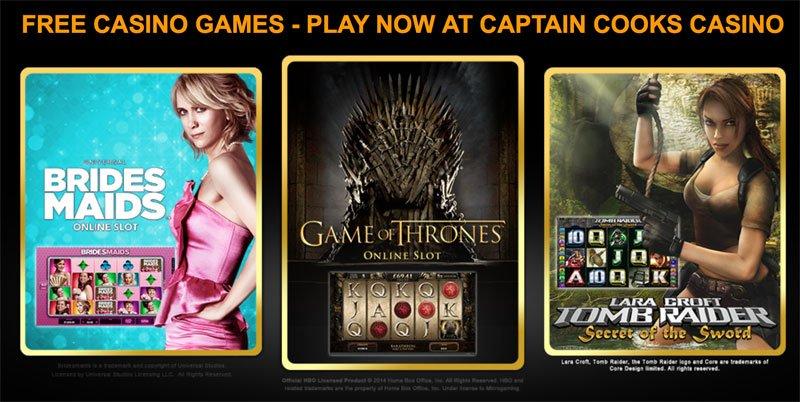 Captain Cook Casino Spiele