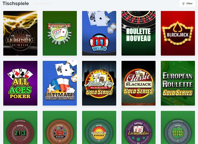 Casilando Casino Tischspiele