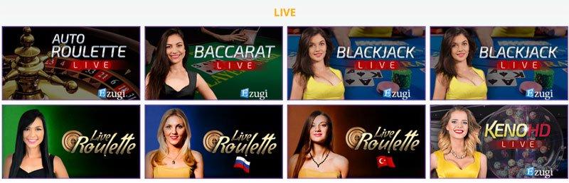 Ezugi Live Blackjack und Live Roulette