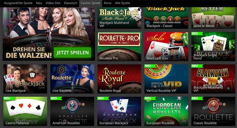 Online Casino Tisch-Spiele