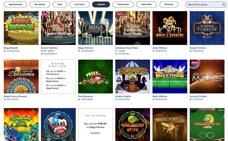 igame Casino Jackpot Spiele