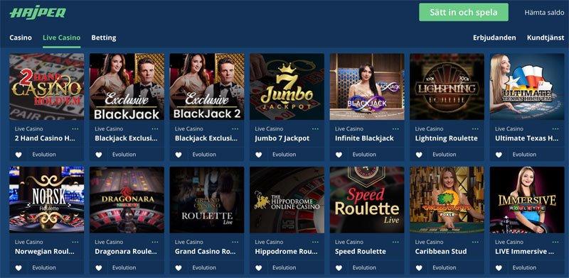 Live-casino spel