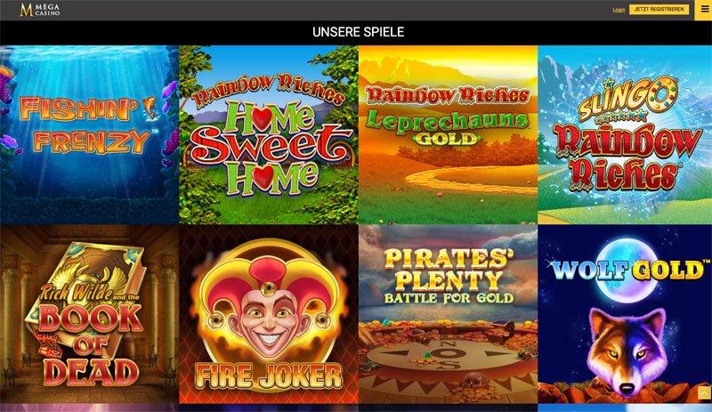 Mega Casino Online Spielautomaten