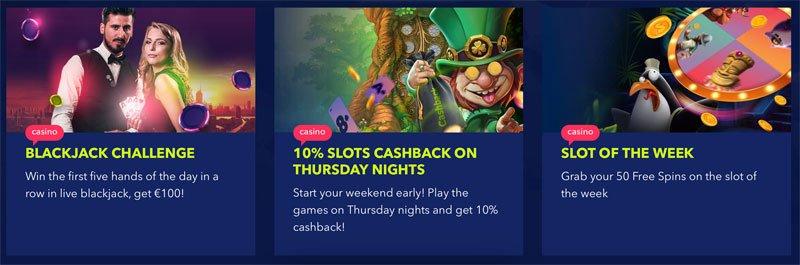 Kampanjoita: Cashback ja Viikon kolikkopeli