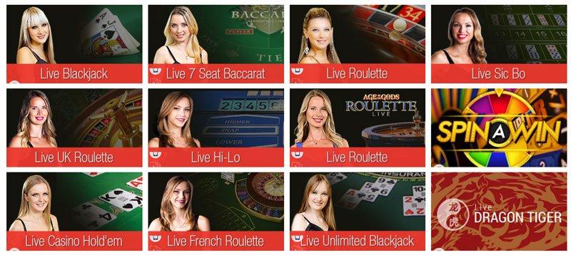Playtechin Live-casinopelejä