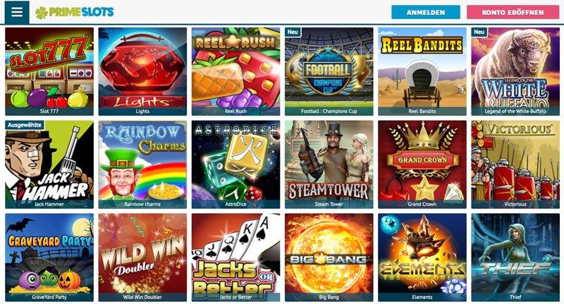 Prime Slots spielautomaten