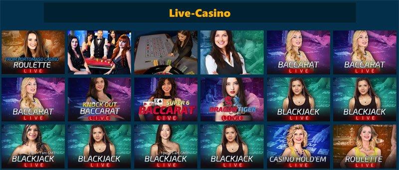 Ezugi, BetGamesTV und Evolution Live Casino Spiele