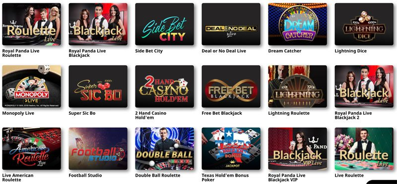 Live Blackjack- ja Live Rulettipelejä