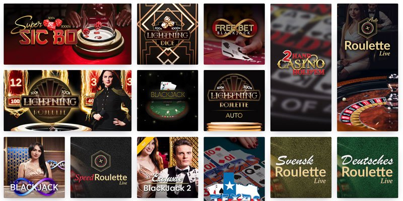 Roulette Live och andra live-spel