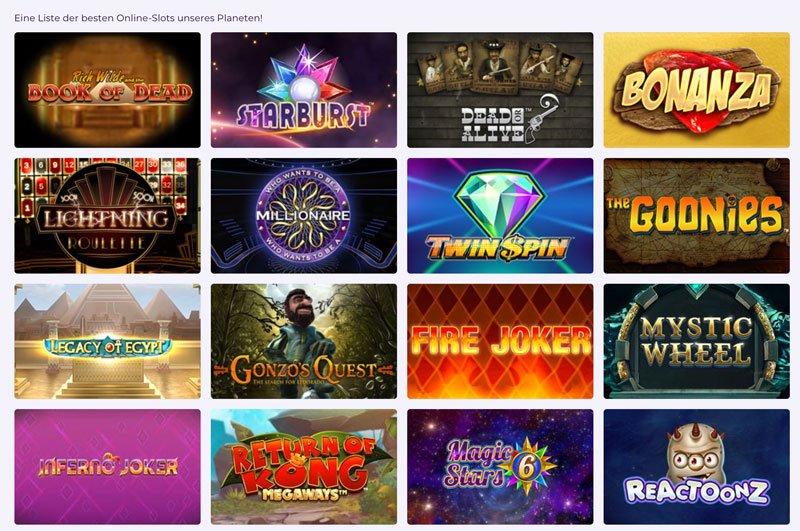 Der besten Online-Slots