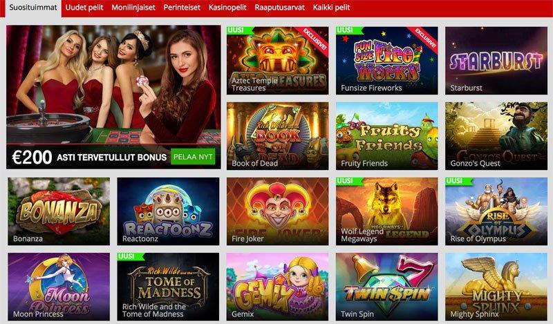 Suositut, uudet ja eksklusiiviset pelit