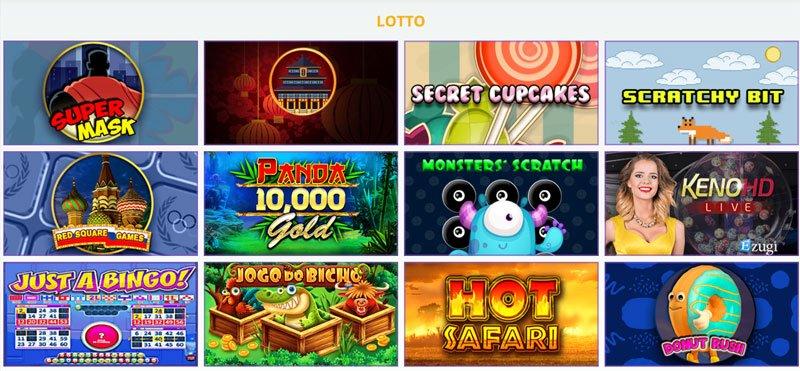 Verschiedene Lotteriespiele
